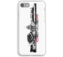 Denver skyline city black iPhone Case/Skin