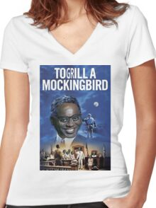 To Grill a Mockingbird Women's Fitted V-Neck T-Shirt