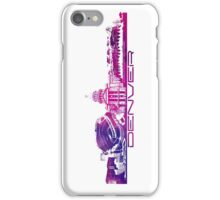 Denver skyline city purple iPhone Case/Skin