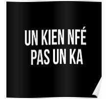 Un kien nfé pas un ka Chti mi nord france picard slogan dialect Poster