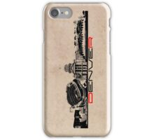 Denver skyline city iPhone Case/Skin