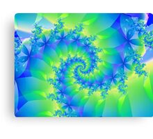 Psychedelic Colorful Spiral Fractal Canvas Print