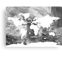 The world's most beautiful ports bw Canvas Print