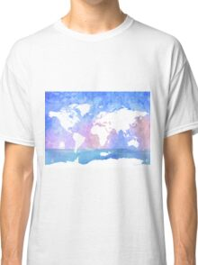 Ocean, boat, map, whale Classic T-Shirt