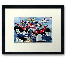 Goldrake Grendizer and Mazinger, best super robots Framed Print