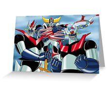 Goldrake Grendizer and Mazinger, best super robots Greeting Card