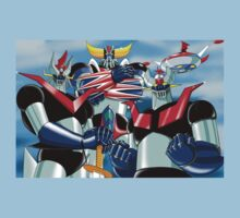 Goldrake Grendizer and Mazinger, best super robots Kids Tee