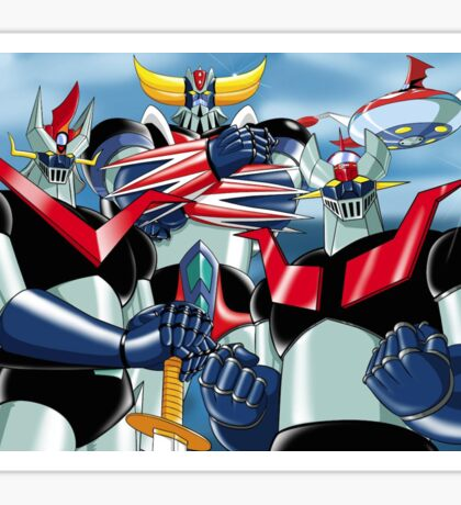 Goldrake Grendizer and Mazinger, best super robots Sticker