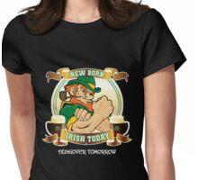 St Patrick's Day - New Born Irish Today Variant Dark Womens Fitted T-Shirt