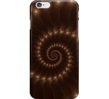 Glossy Chocolate Brown Spiral iPhone Case/Skin