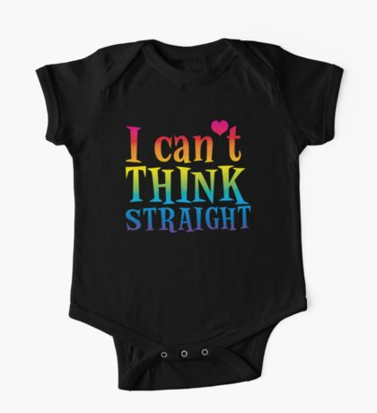 I can't think straight! with rainbows One Piece - Short Sleeve