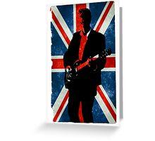 Twelve's Guitar, Hell Bent Union Jack Greeting Card