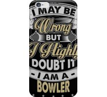 BOWLER COVERS iPhone Case/Skin