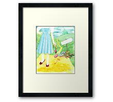 Dorothy returning to Kansas with some souvenirs... Framed Print