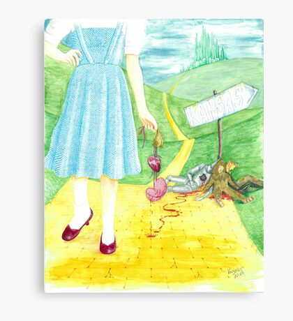 Dorothy returning to Kansas with some souvenirs... Canvas Print