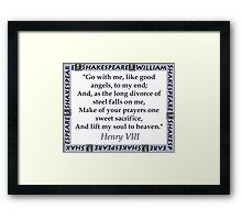 Go With Me - Shakespeare Framed Print