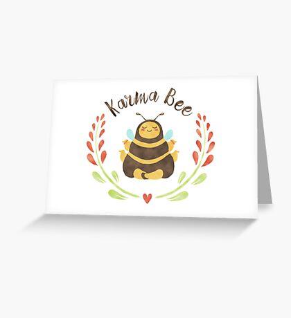 Karma Bee Original Greeting Card