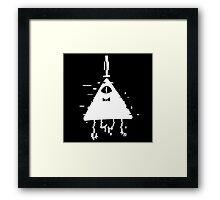 Bill Cipher static white Framed Print
