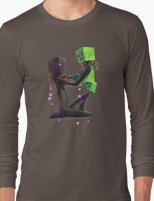 Creeper and Enderman, Minecraft Long Sleeve T-Shirt