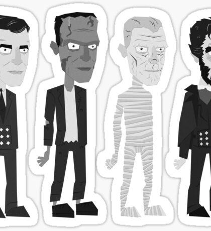 Many Faces Of Karloff Sticker