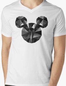 Black Pop Crystal Mens V-Neck T-Shirt