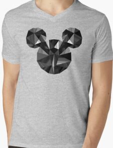 Black Pop Crystal Mens V-Neck T-Shirt