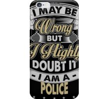 POLICE COVERS iPhone Case/Skin