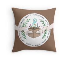 Schrodinger's Garden Club Throw Pillow