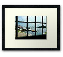 Looking Out At The Sea Framed Print