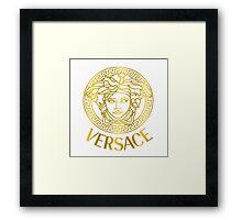 Versace gold logo Framed Print
