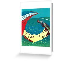 Red Arrows, Bournemouth Beach Greeting Card
