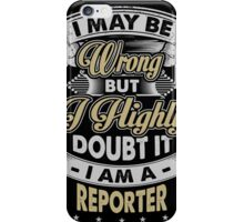REPORTER COVERS iPhone Case/Skin