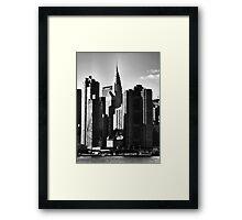 Chrysler + Met Life, New York Framed Print