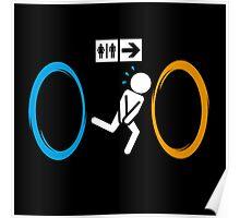 Portal toilet Poster
