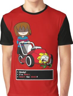 Undertale Frisk and Flowey Graphic T-Shirt