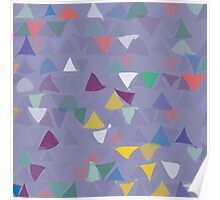 shuffled colorful triangle pattern background Poster