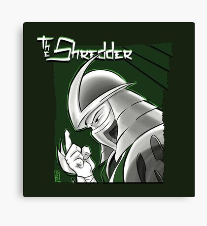 The Shredder - Ooze Canister Green Canvas Print