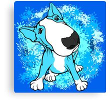 Turquoise English Bull Terrier Dog  Canvas Print