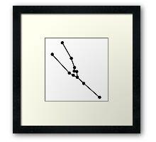 Taurus map Framed Print