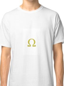 Colorful greek alphabet. Omega. Yellow Classic T-Shirt