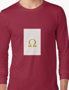 Colorful greek alphabet. Omega. Yellow Long Sleeve T-Shirt