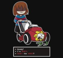Undertale Frisk and Flowey One Piece - Short Sleeve