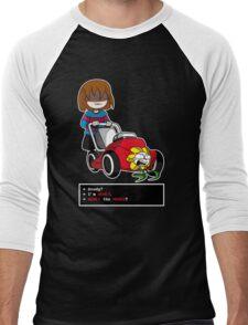 Undertale Frisk and Flowey Men's Baseball ¾ T-Shirt