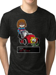 Undertale Frisk and Flowey Tri-blend T-Shirt