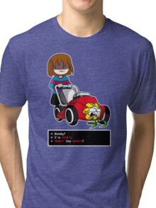 Undertale Frisk and Flowey Tri-blend T-Shirt