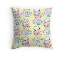 cloudy out Throw Pillow