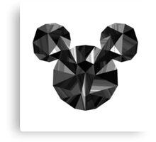 Black Pop Crystal Canvas Print
