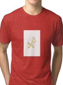 colorful sketch of giraffe on white background Tri-blend T-Shirt