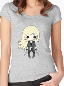 Throne of Glass Chibi Women's Fitted Scoop T-Shirt