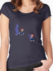 calvin and hobbes meets hanks and raven Women's Fitted Scoop T-Shirt
